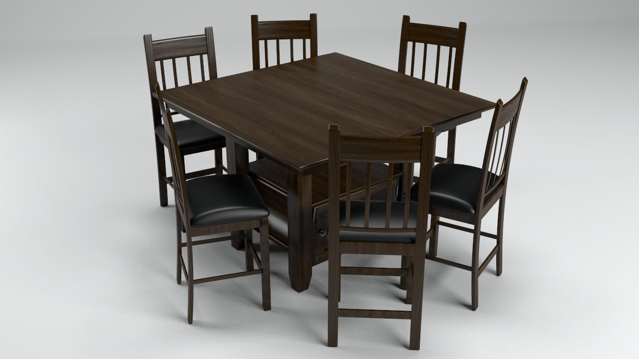 Artstation Jofran Tessa Chianti Square Counter Height Table W