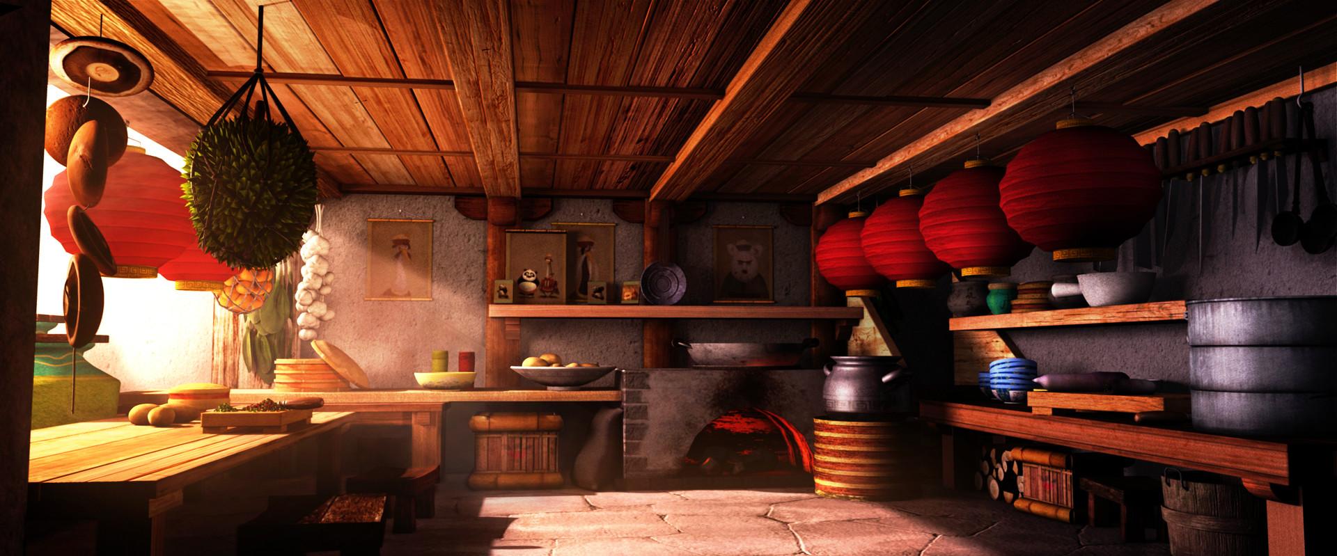 Kung Fu Panda Kitchen Scene