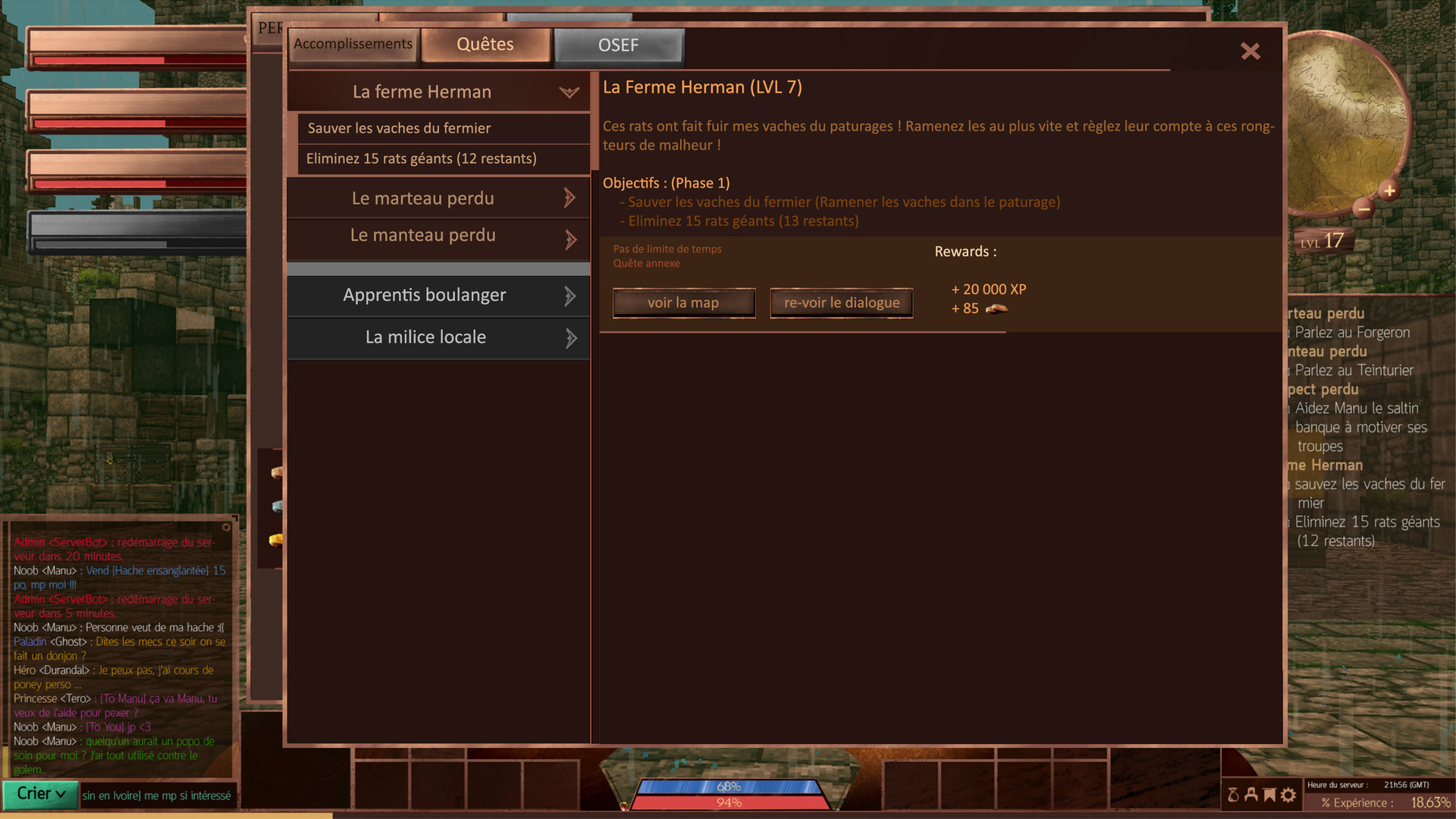 Benjamin pelmoine base interface quests