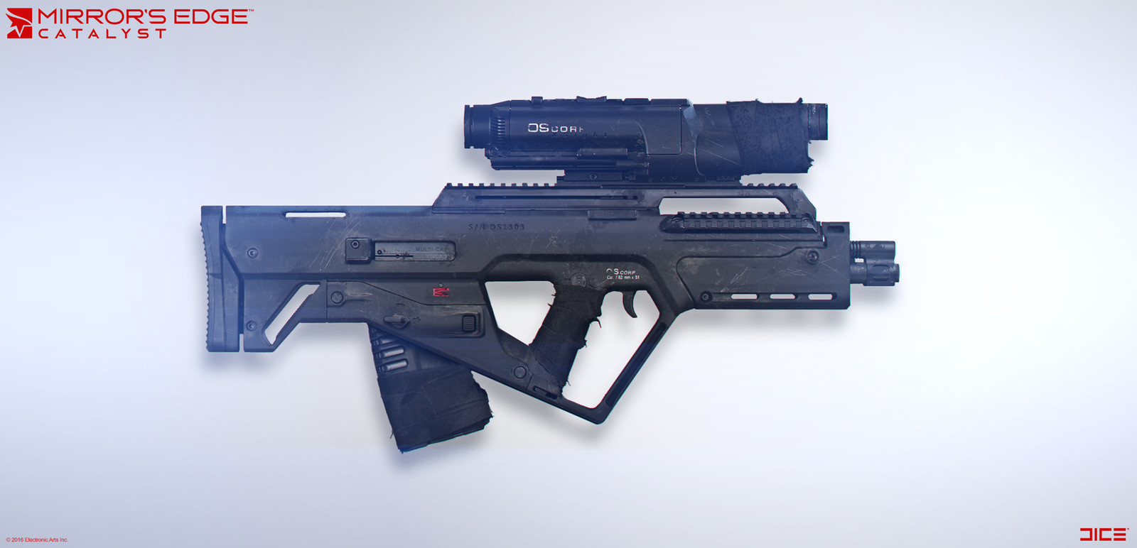 Black November Rifle - Concept Art