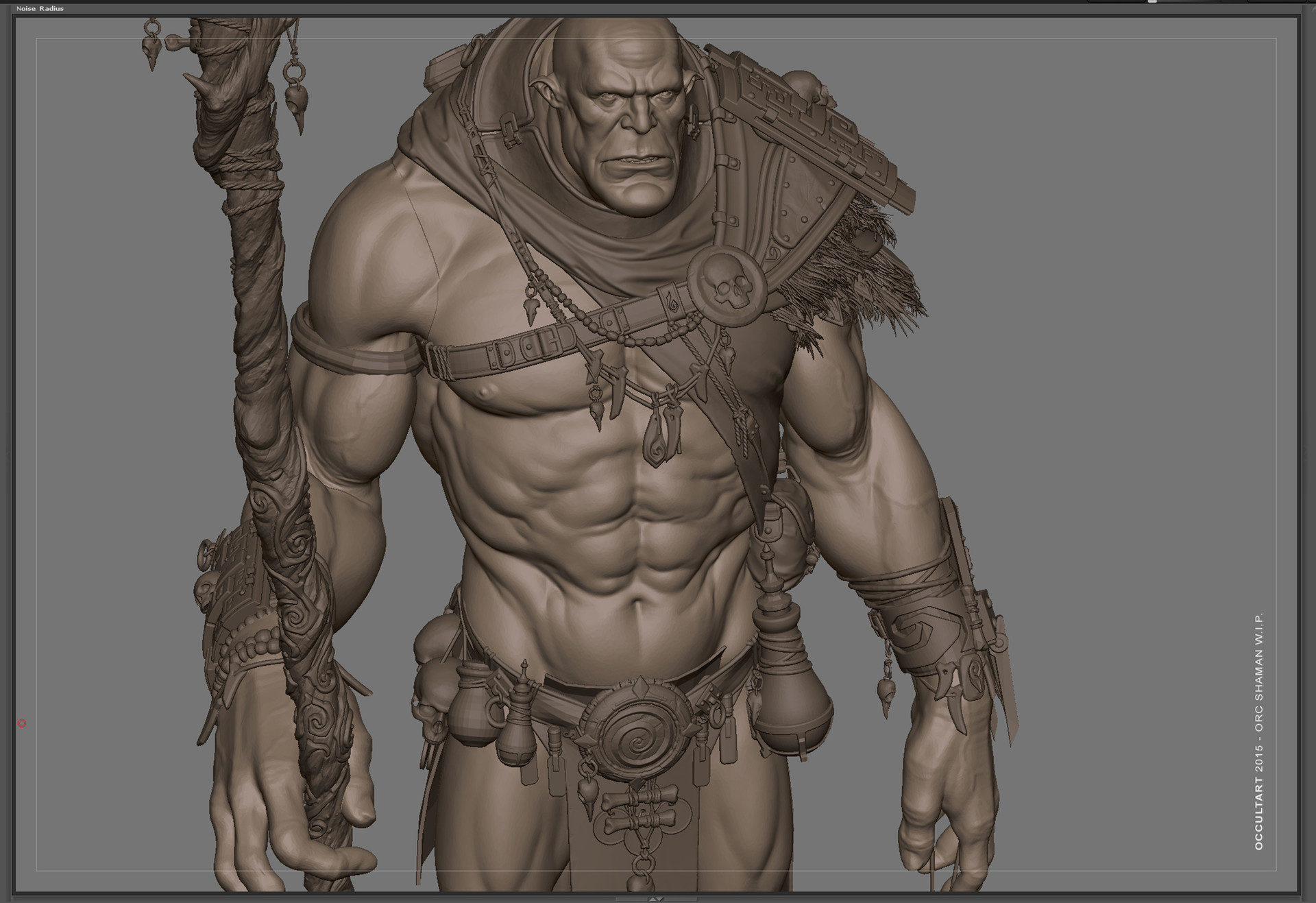 Occultart   orc shaman wip 01