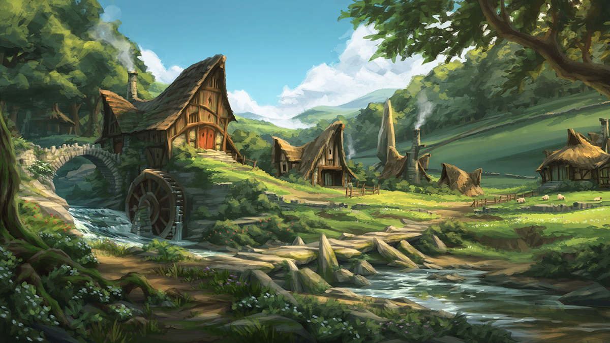 Artstation Rhubarb Village Elliot Upton