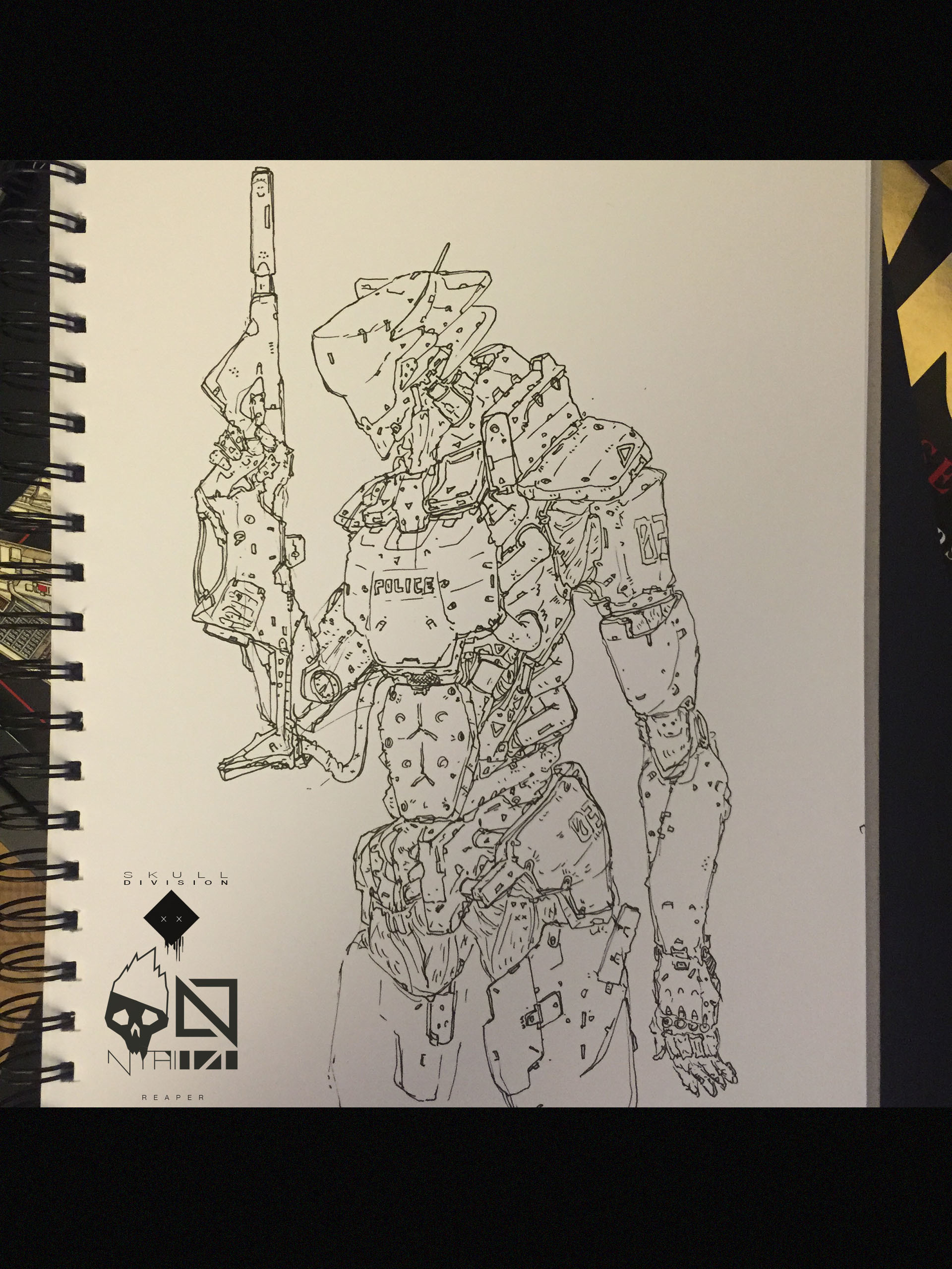 Nelson tai skulldiv reaper sketch 001