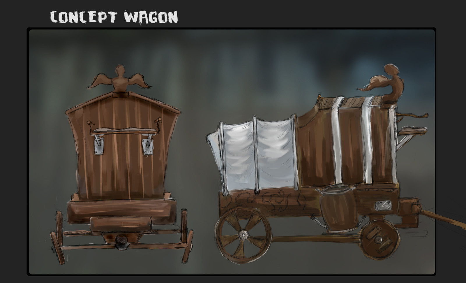 charette chariot sketch