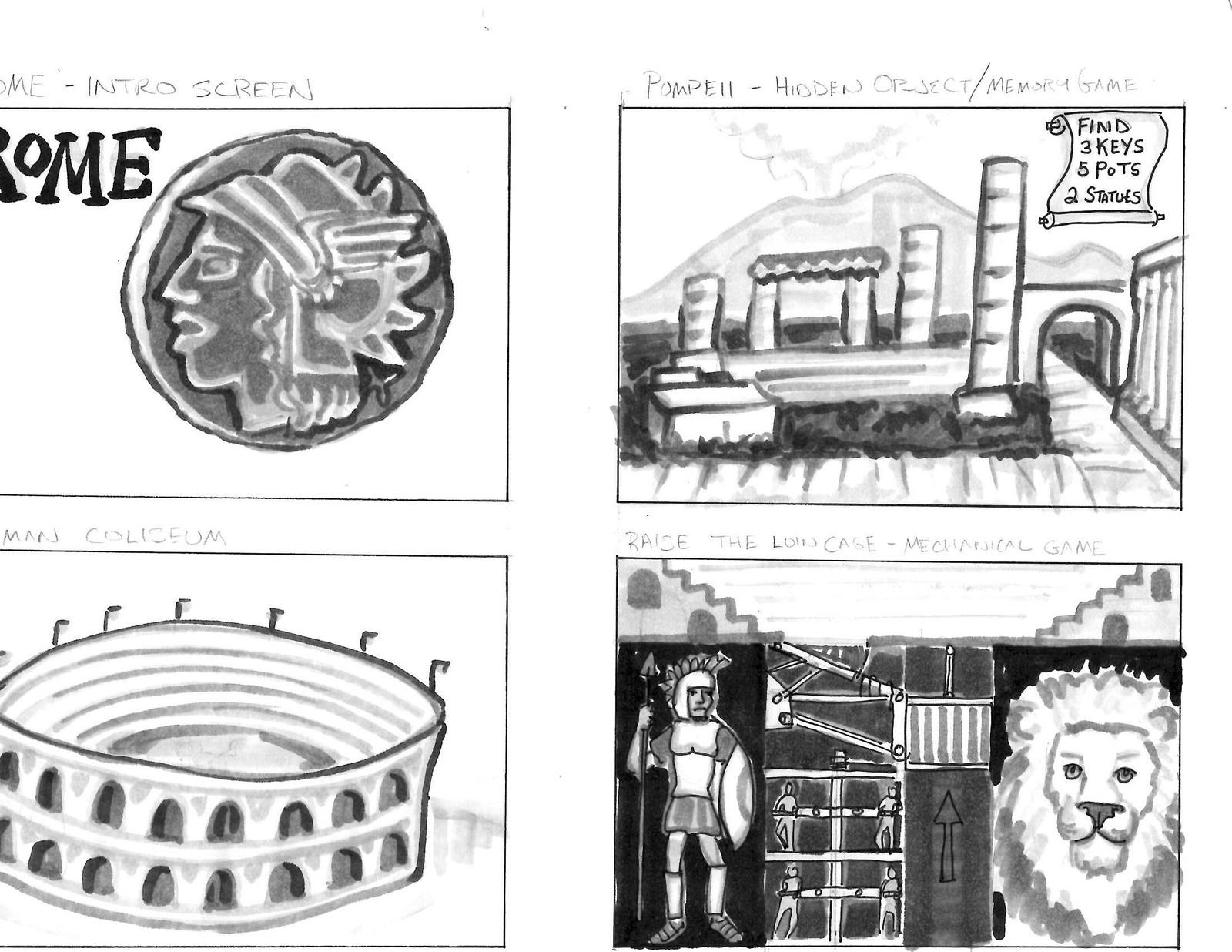 Roman storyboards