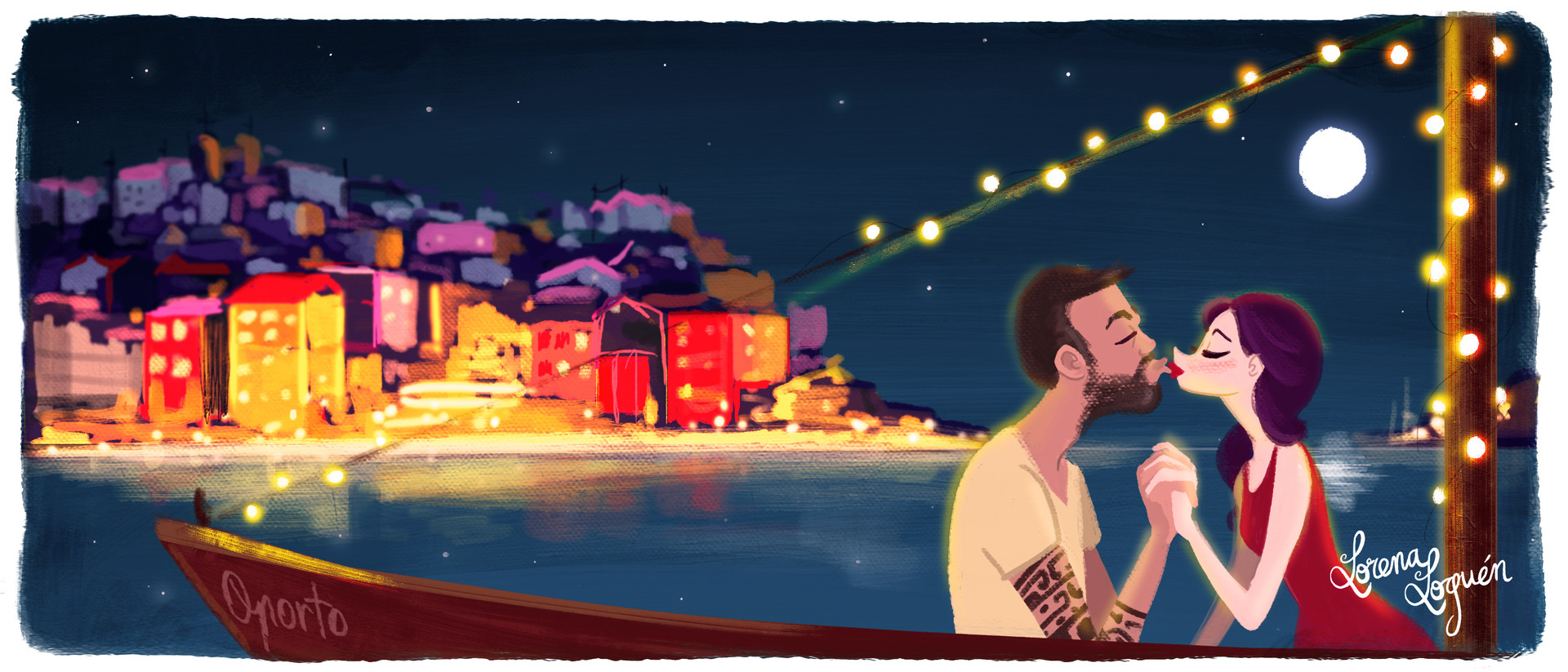 Romance in Porto - Illustration