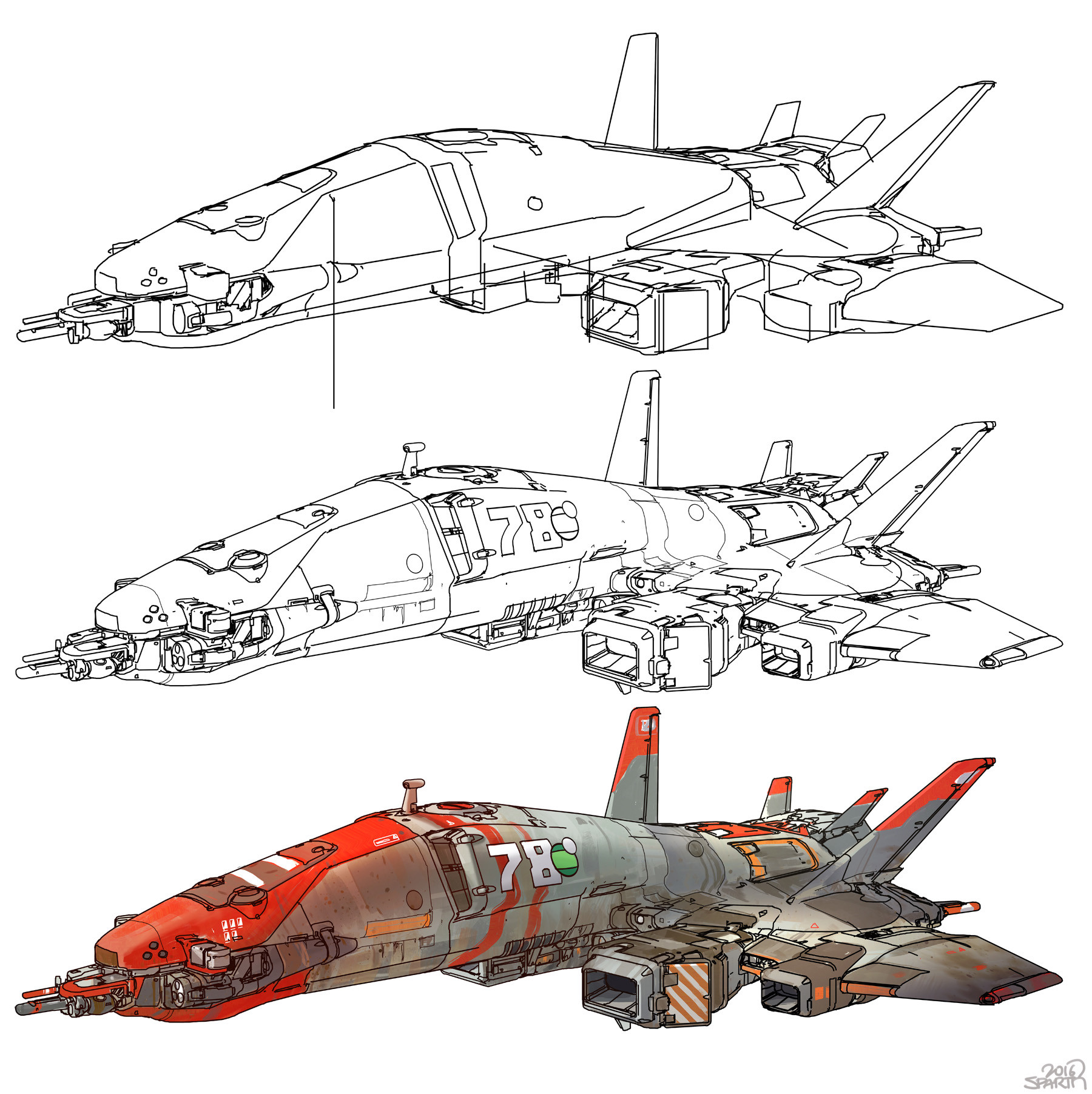 Sparth line spaceship fullsheet s