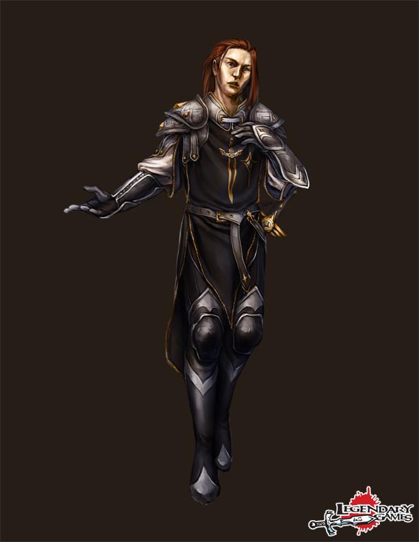 Loric Solnebren, human sanctified rogue