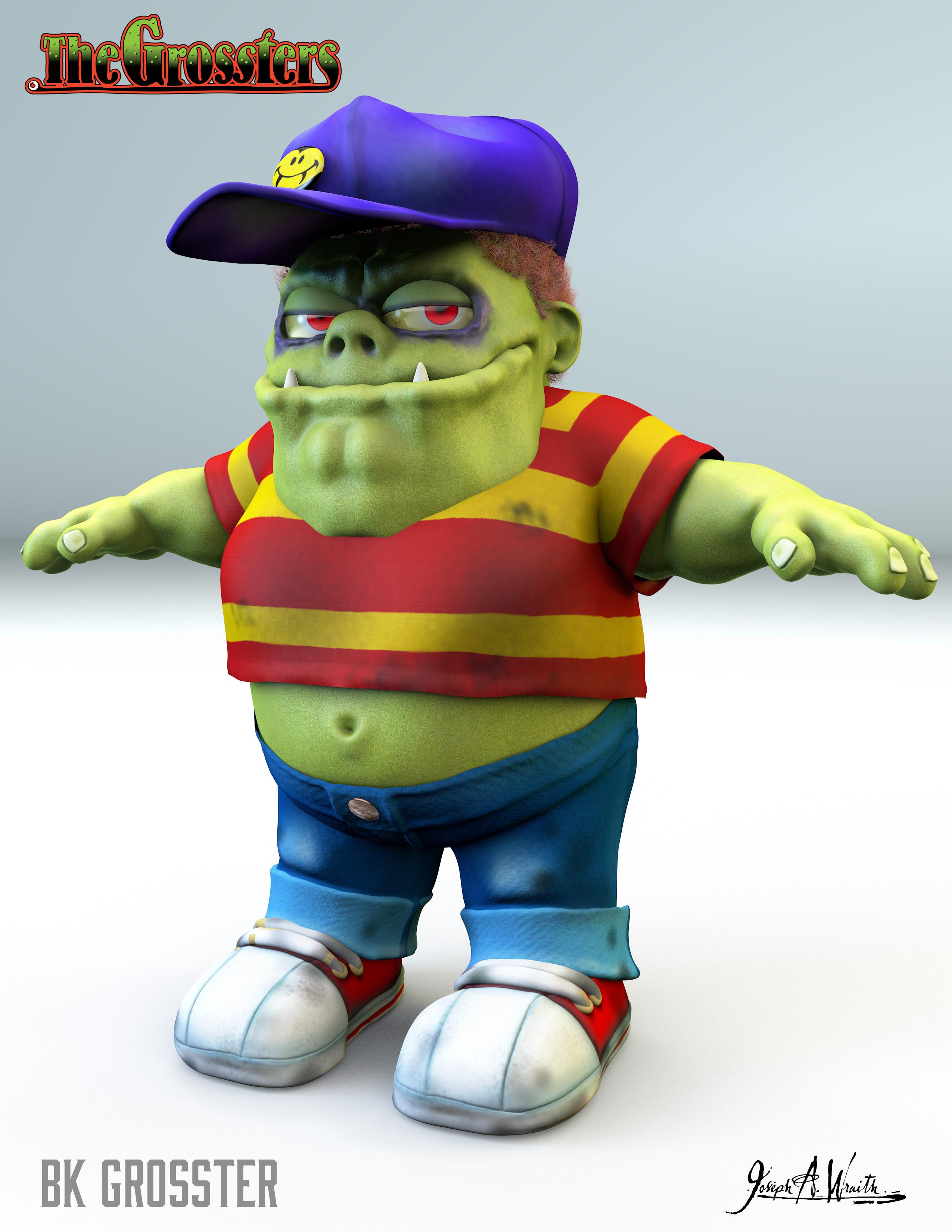 Bk Grosster - 3d Character