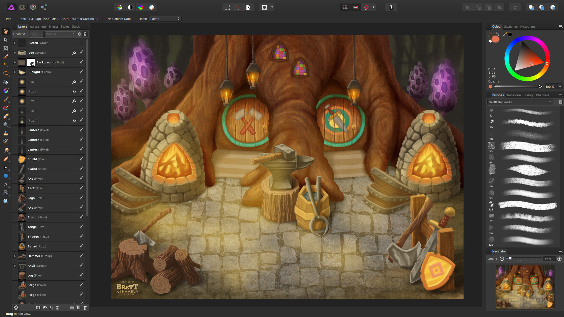 Process Step 4 - Add final details and light effects