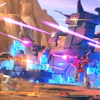 Space ape games transformers earth wars battle scene