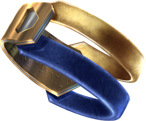 A bracelet that can be fitted with a shield generator.