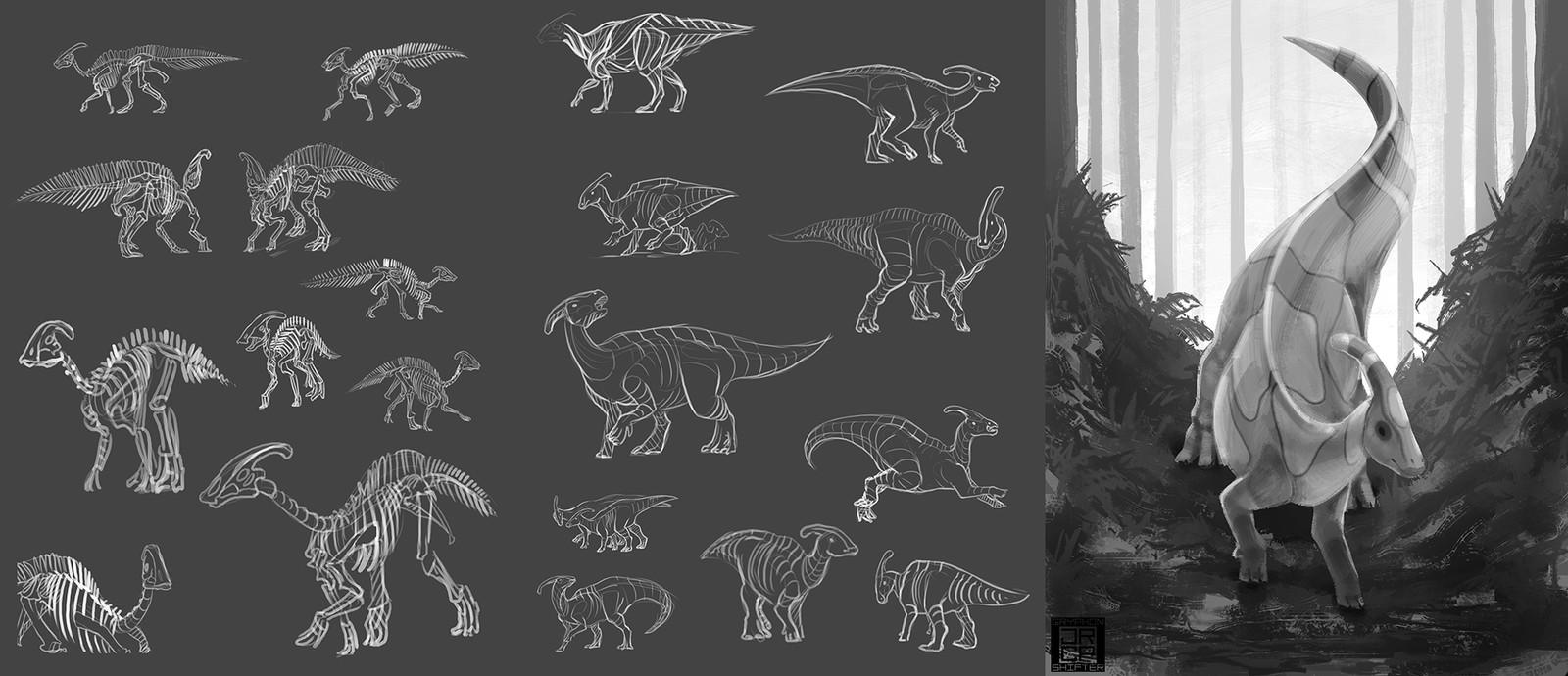 3: Parasaurolophus