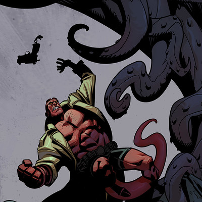 Harrison yinfaowei hellboy colored