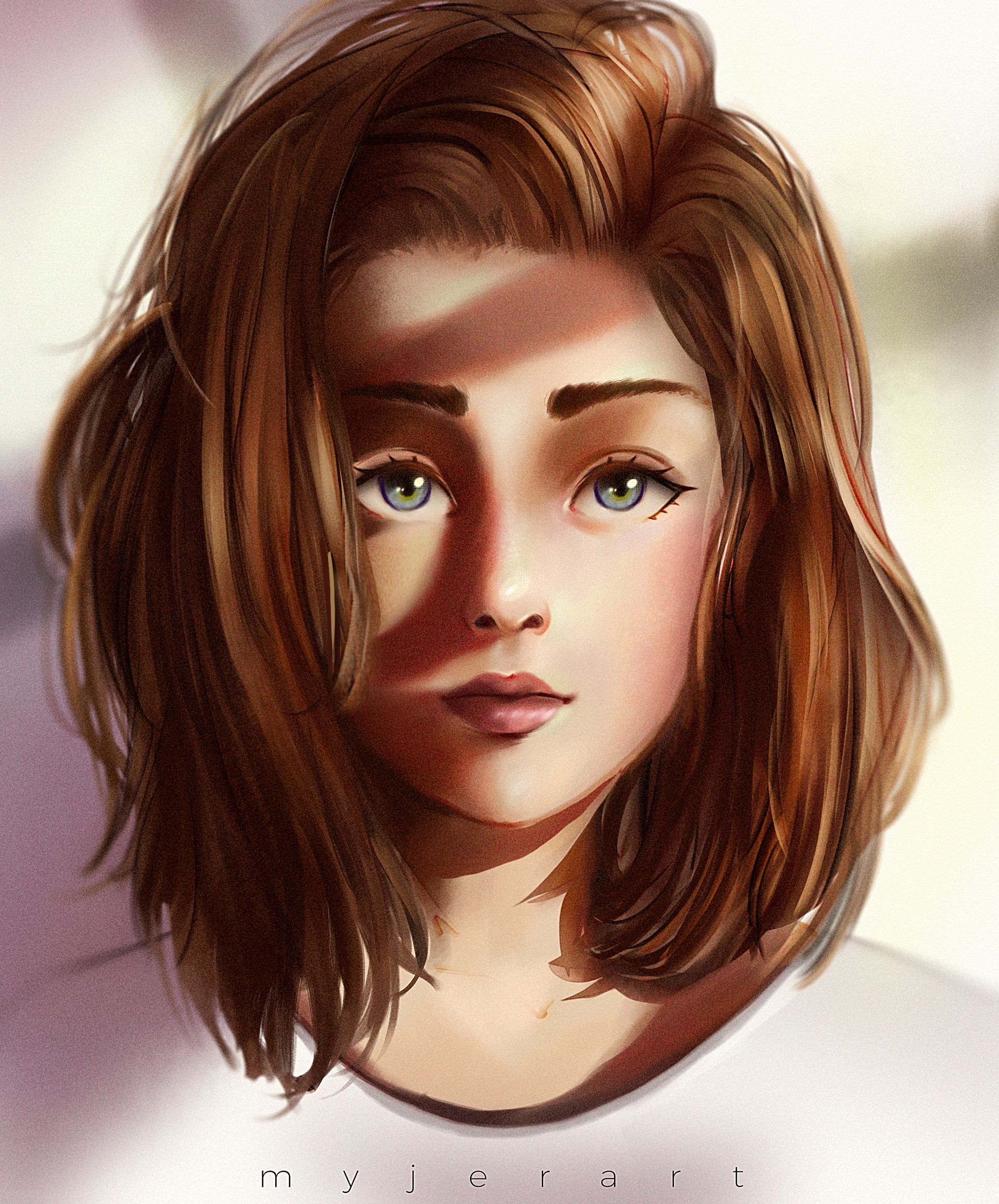 Artstation - Brown Haired Girl, Myjerart-6909