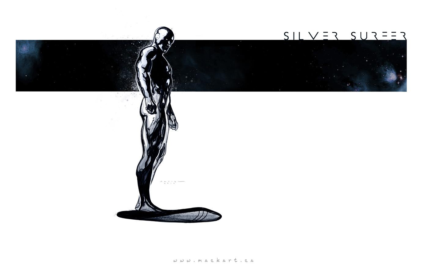 Mack sztaba silver surfer sketch