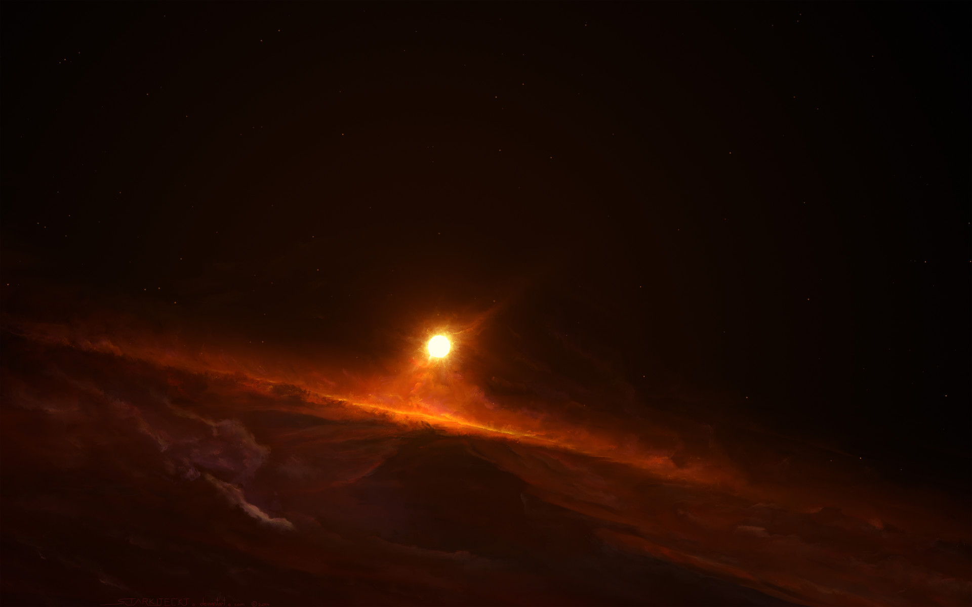 Mustafar Sunrise (high atmosphere)