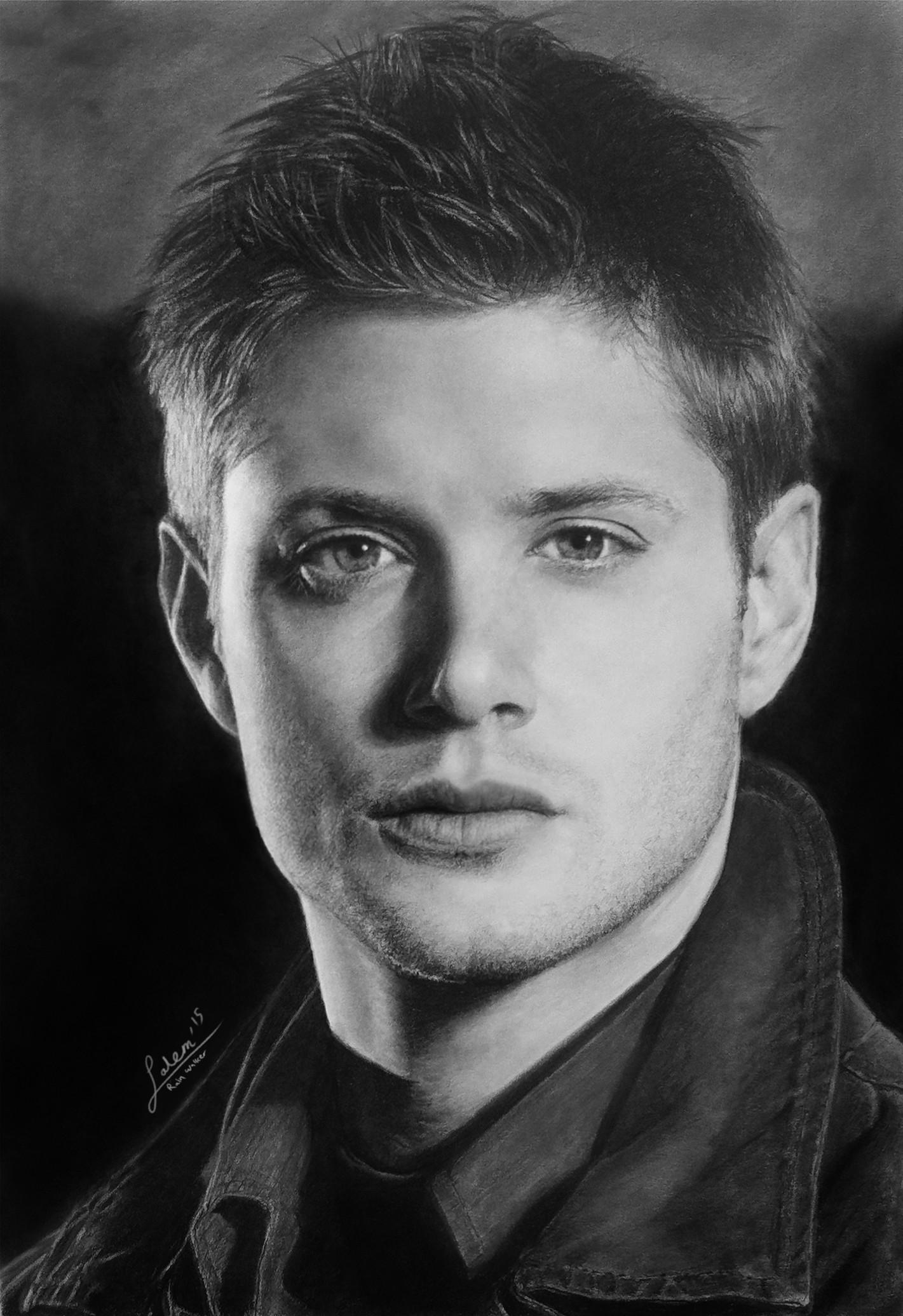 Salem Shanouha - Dean Winchester (Jensen Ackles) Pencil Portrait