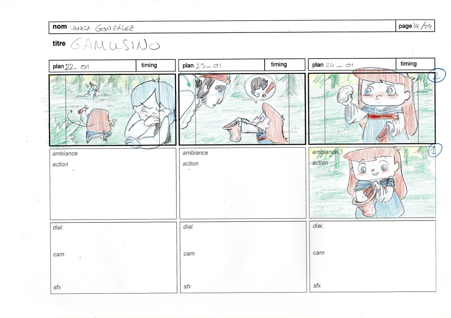 Vanesa gonzalez storyboard gamusino 14