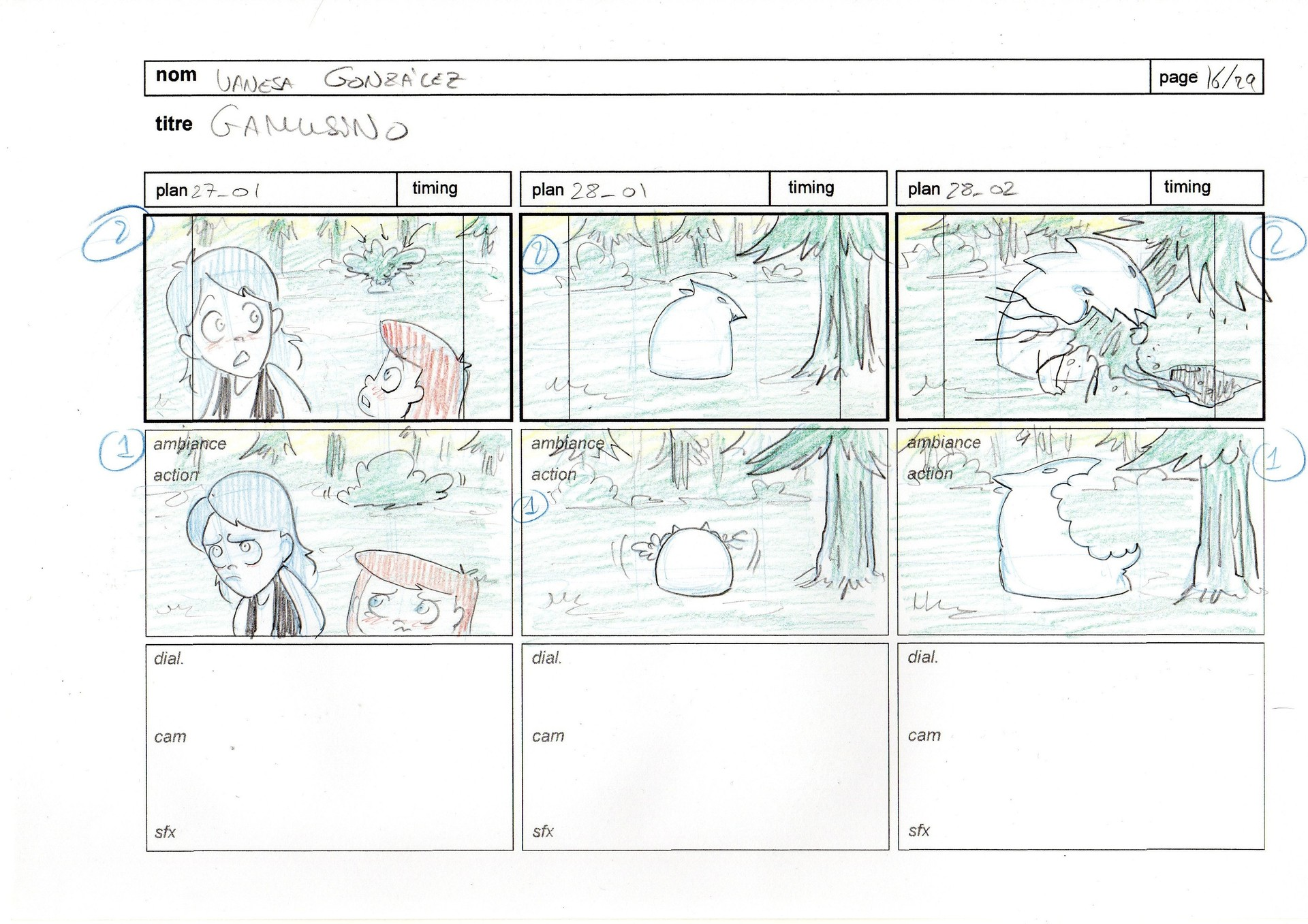 Vanesa gonzalez storyboard gamusino pages 16