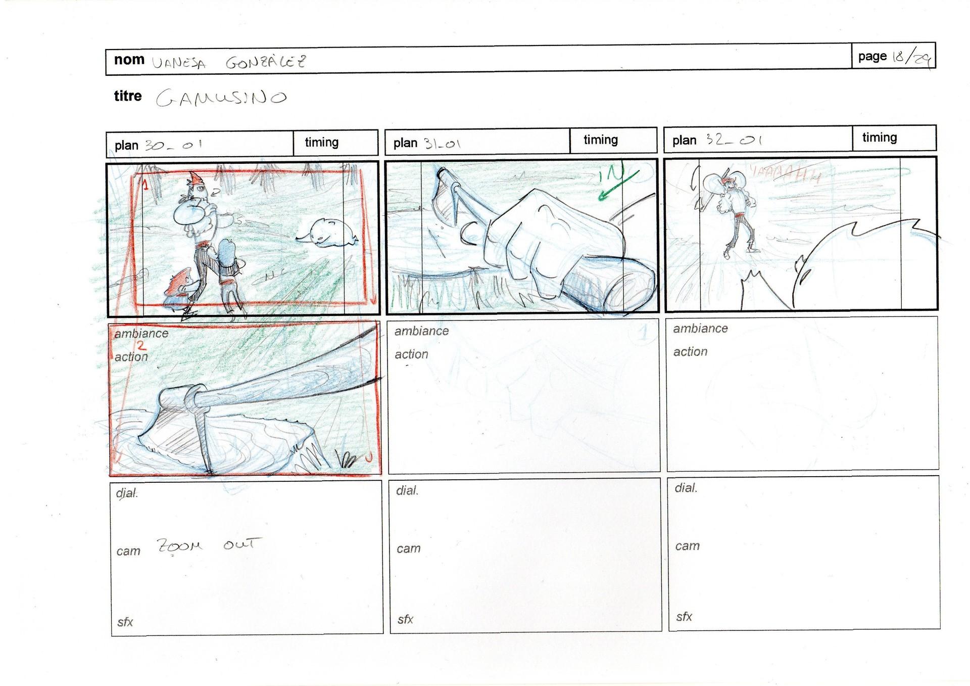 Vanesa gonzalez storyboard gamusino pages 18