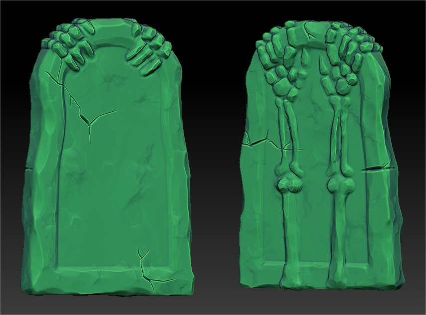 Stylized Tombstone Sculpt