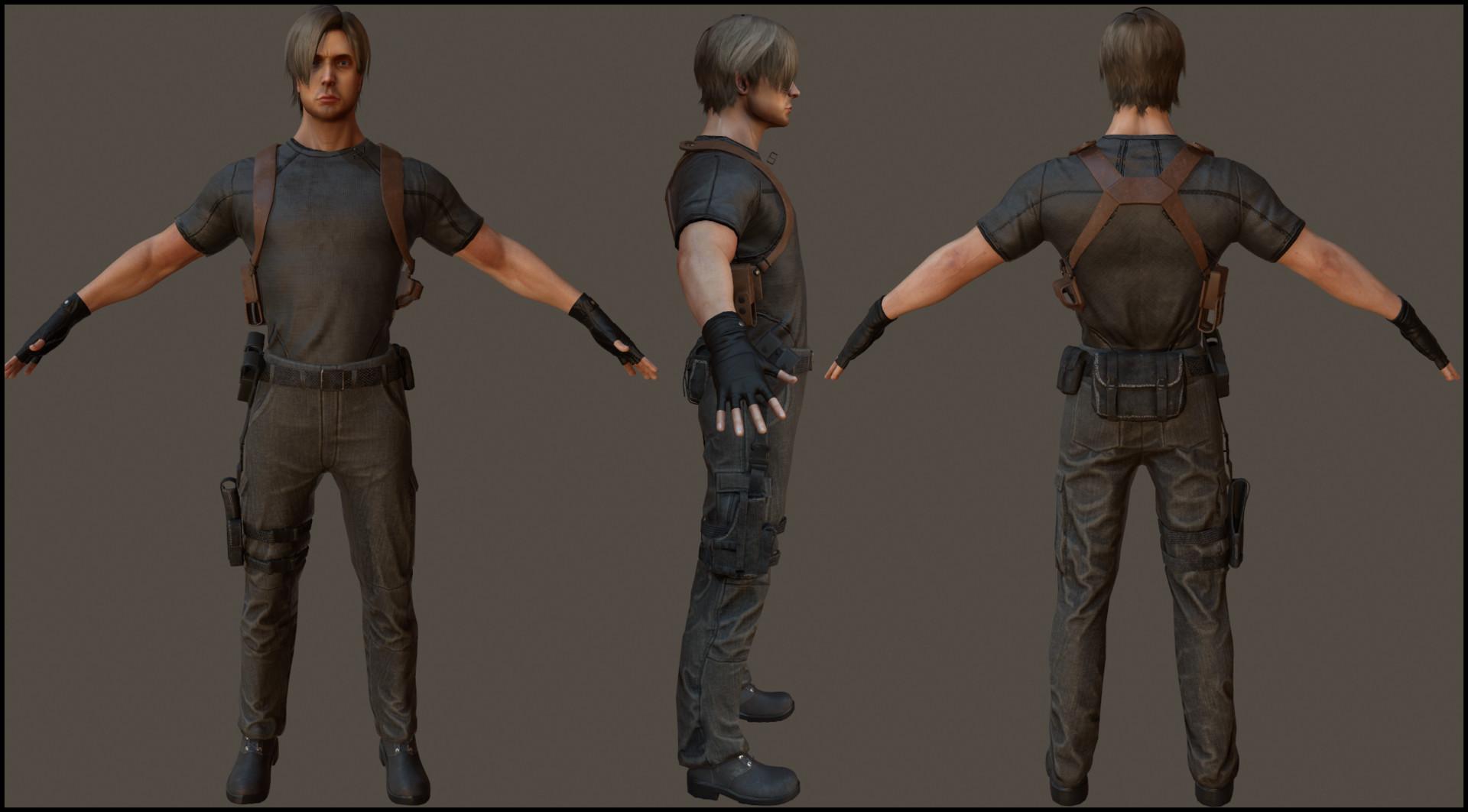 Artstation Leon Kennedy Resident Evil 4 Razzle Bell