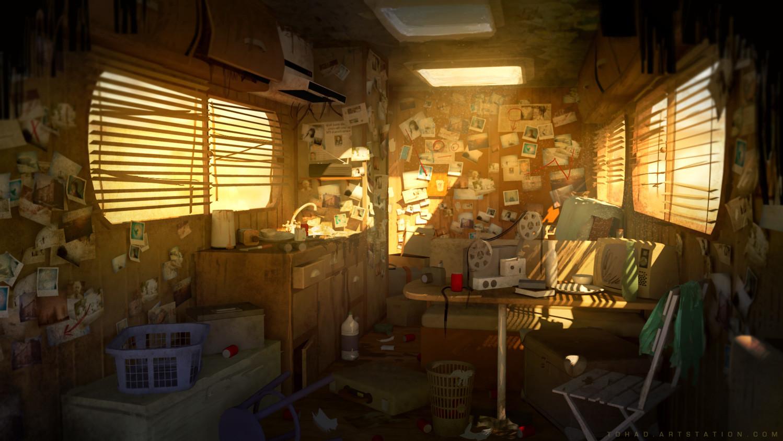 Dark Days : Camping car interior
