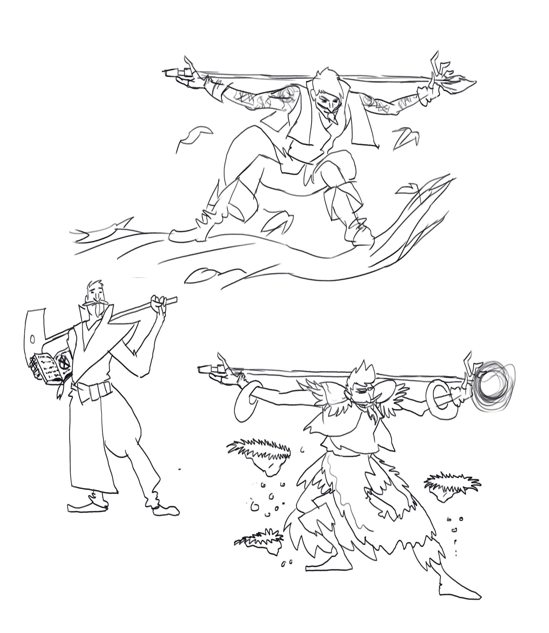 Victor debatisse wizards sketches