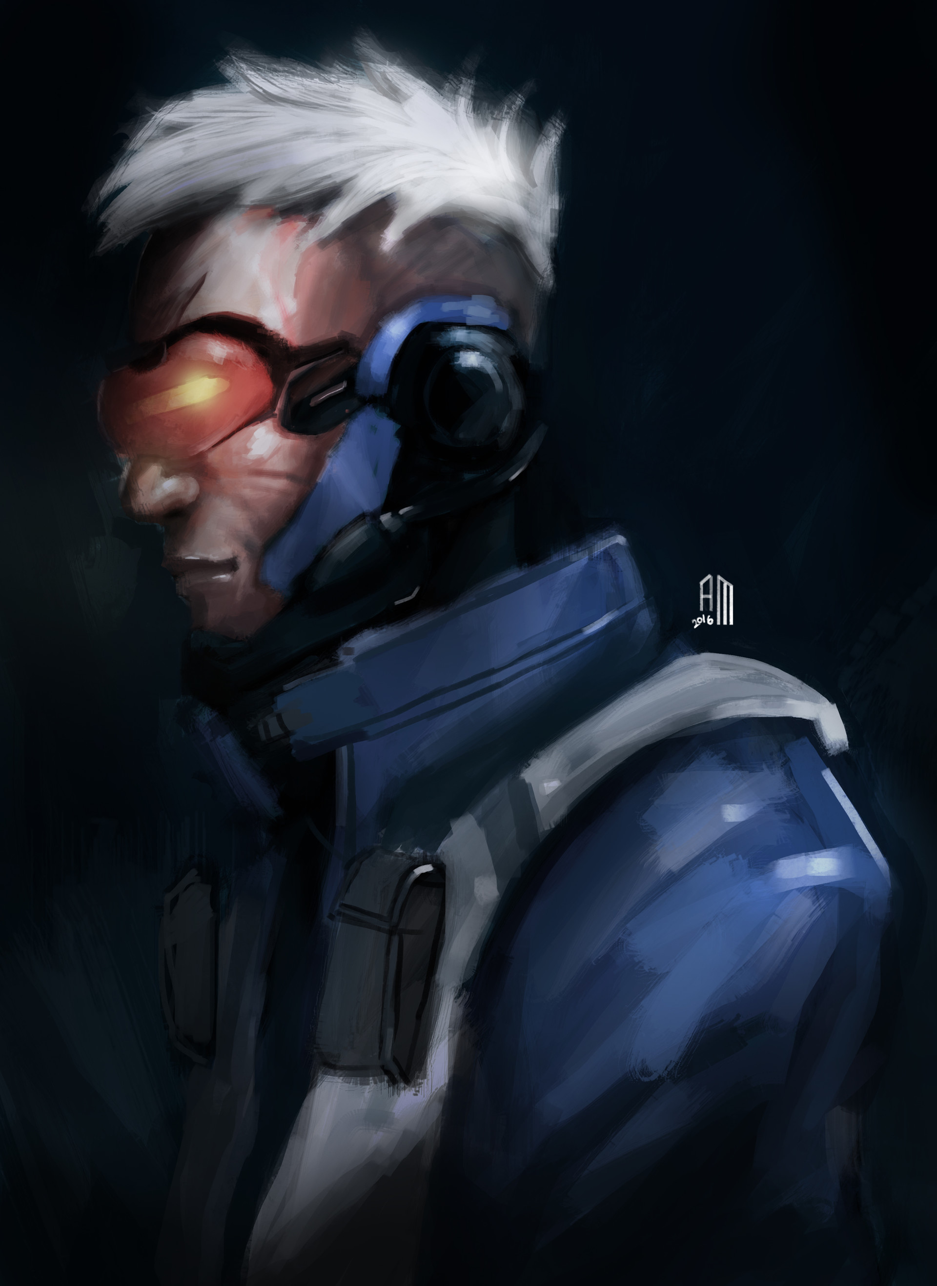 Arymarsi Siregar - Soldier 76 After-battle Fanart