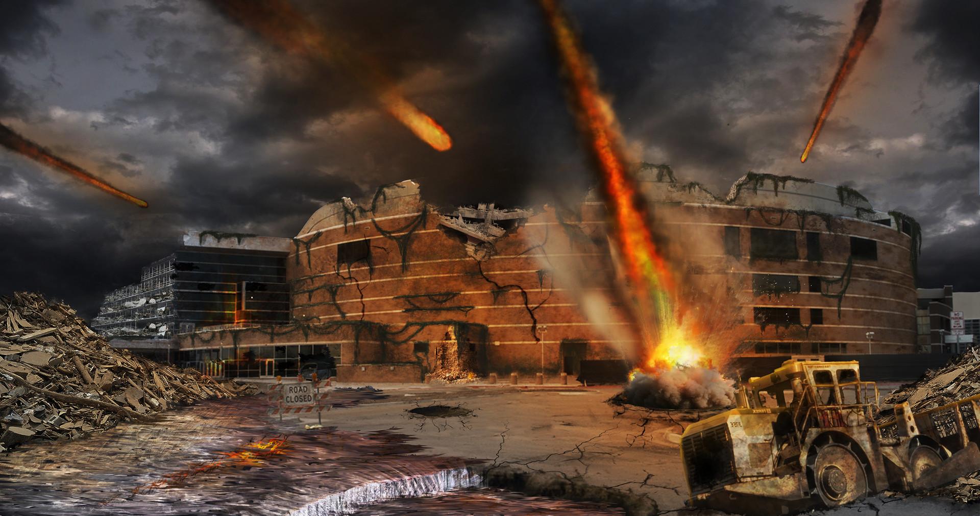 Adriaan de haan meteor destroyed city