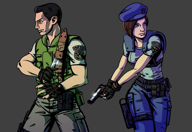 Resident Evil, Chris Redfield & Jill