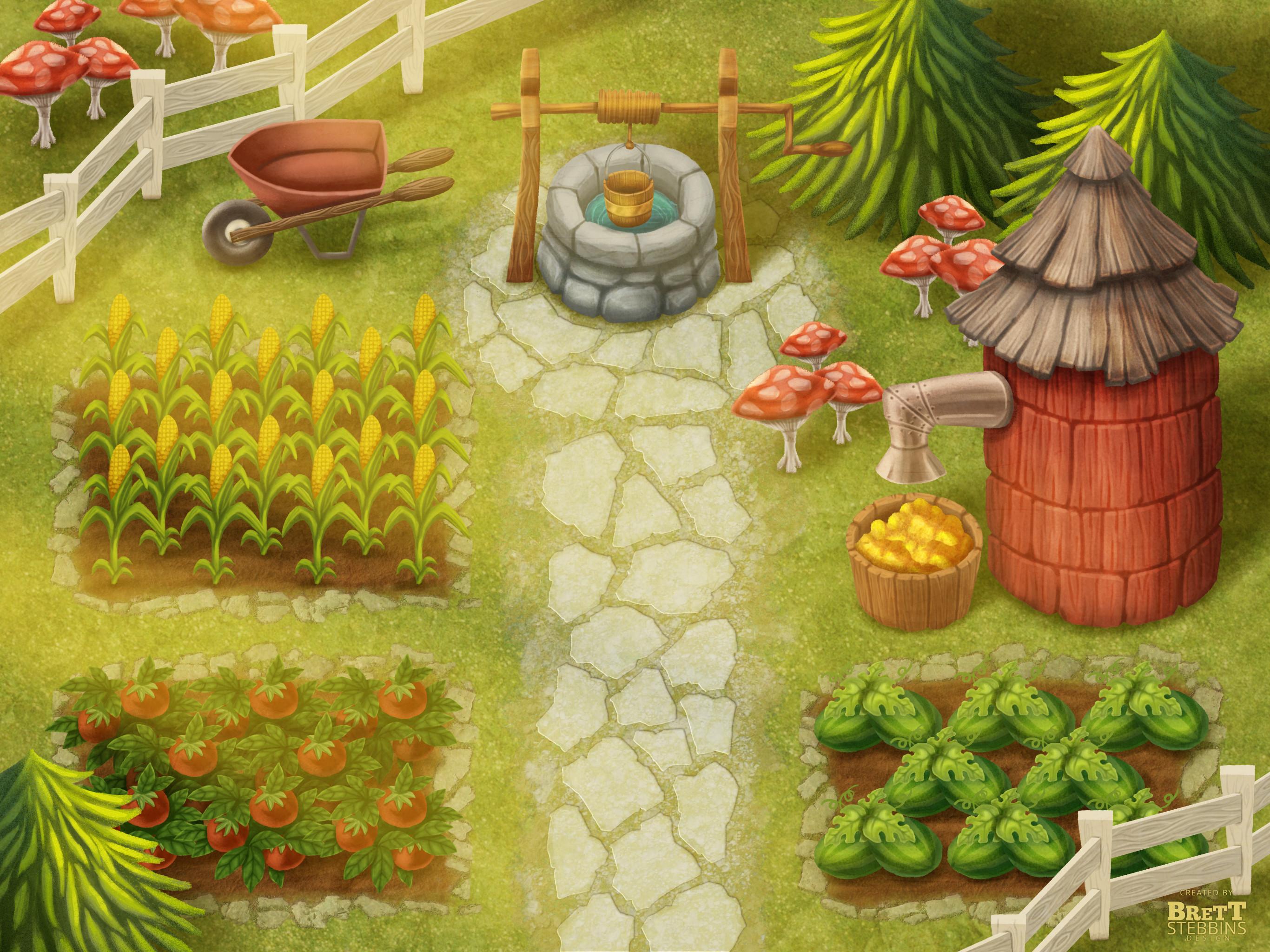 Final Concept Art - Garden Area