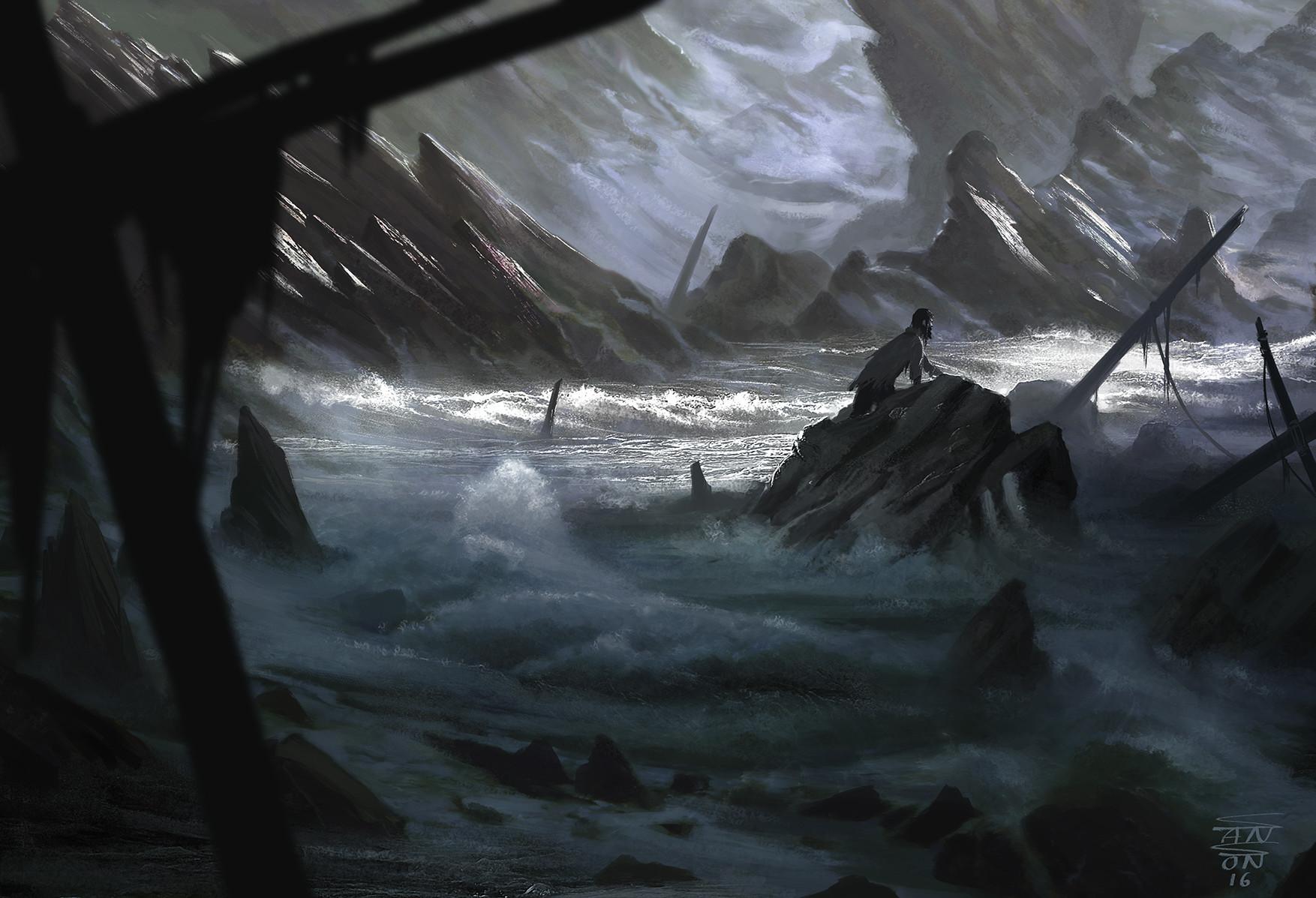 Ludovic sanson shipwrecked