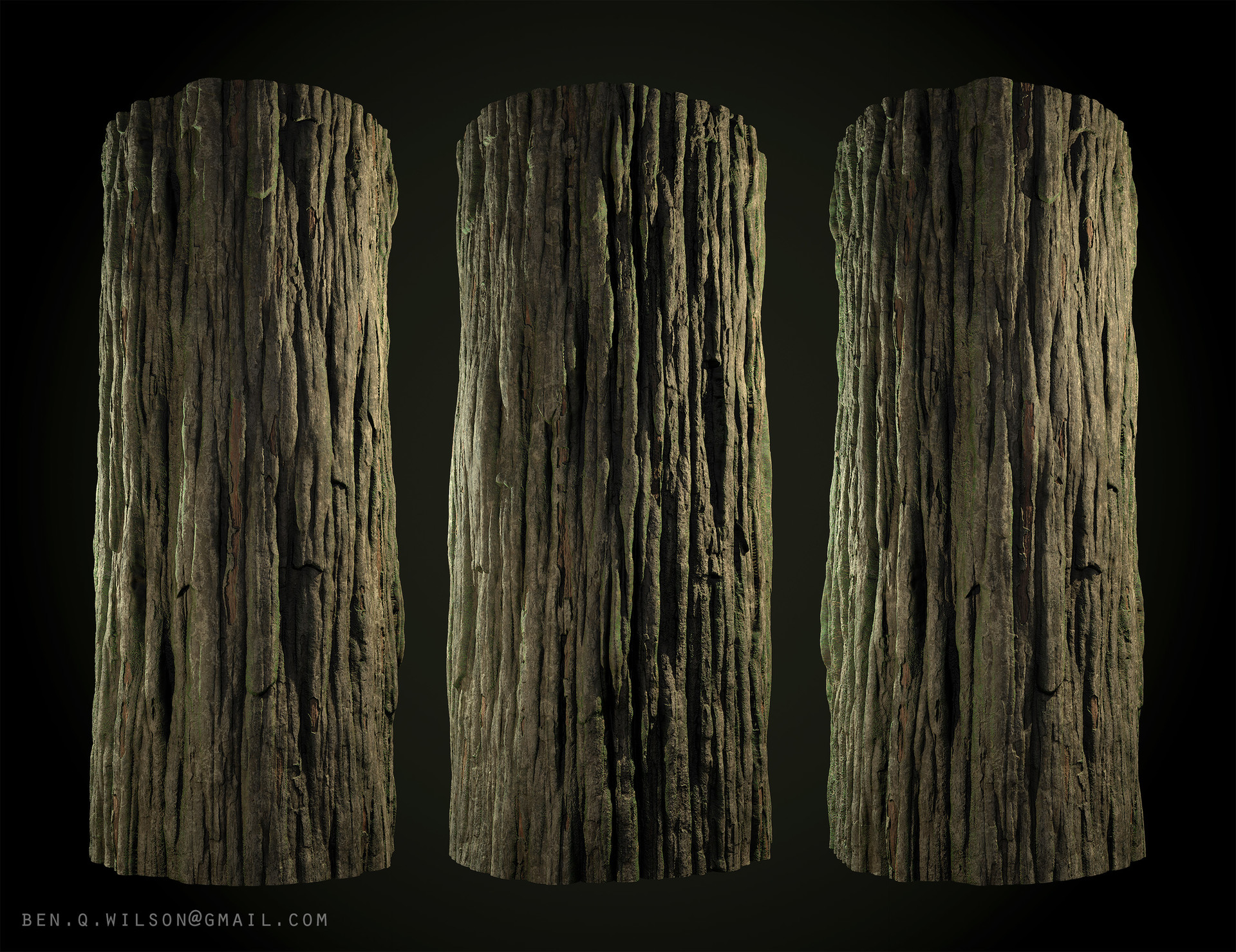 Ben wilson redwood bark a render