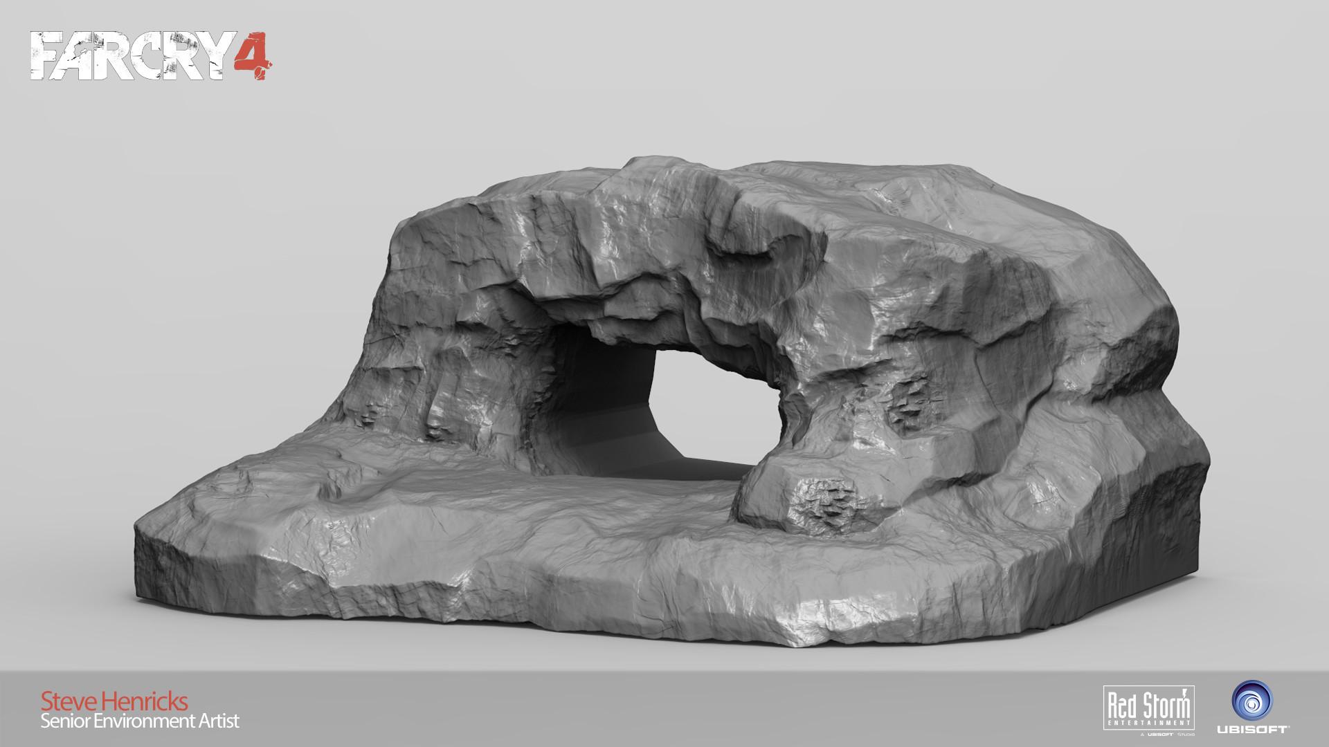 Cave entrance sculpt