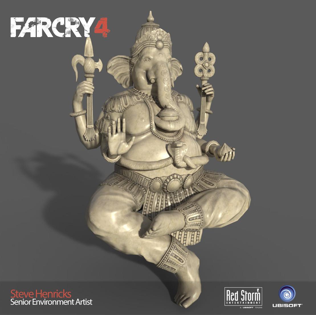 Low poly Ganesha Statue