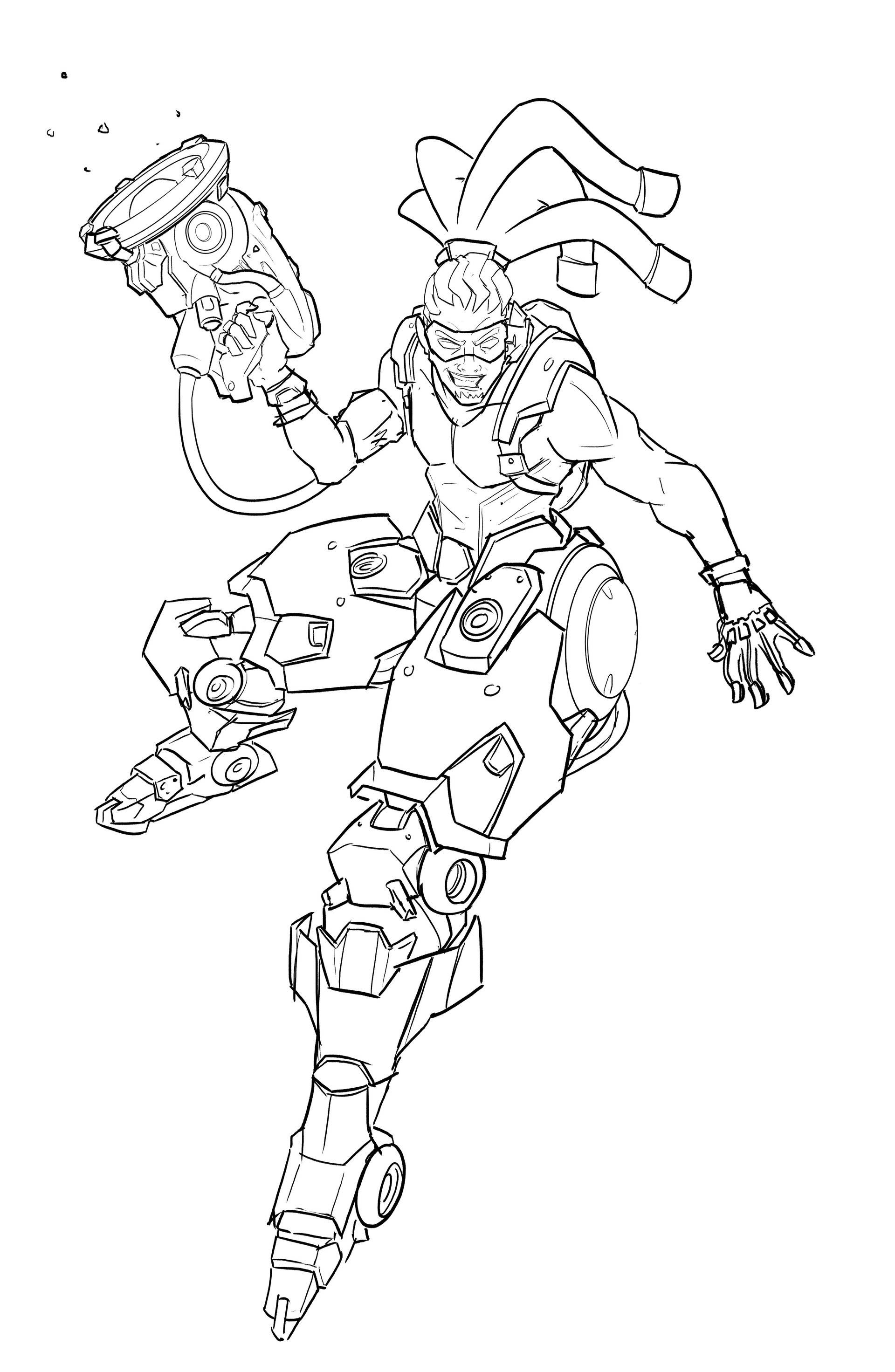 Overwatch genji coloring pages sketch coloring page for Overwatch genji coloring pages