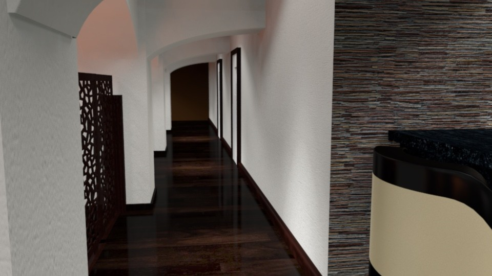 Corridor/toilets