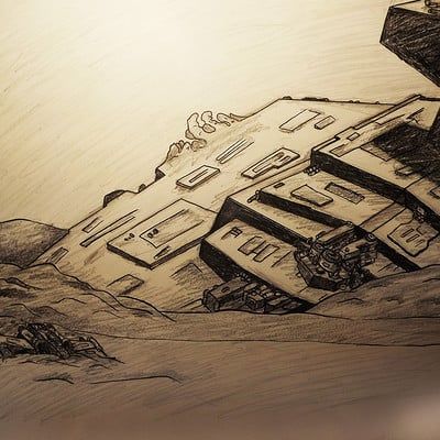 Peter yea peter yea the wreck of jakku pen and pencil 41x57 jpg