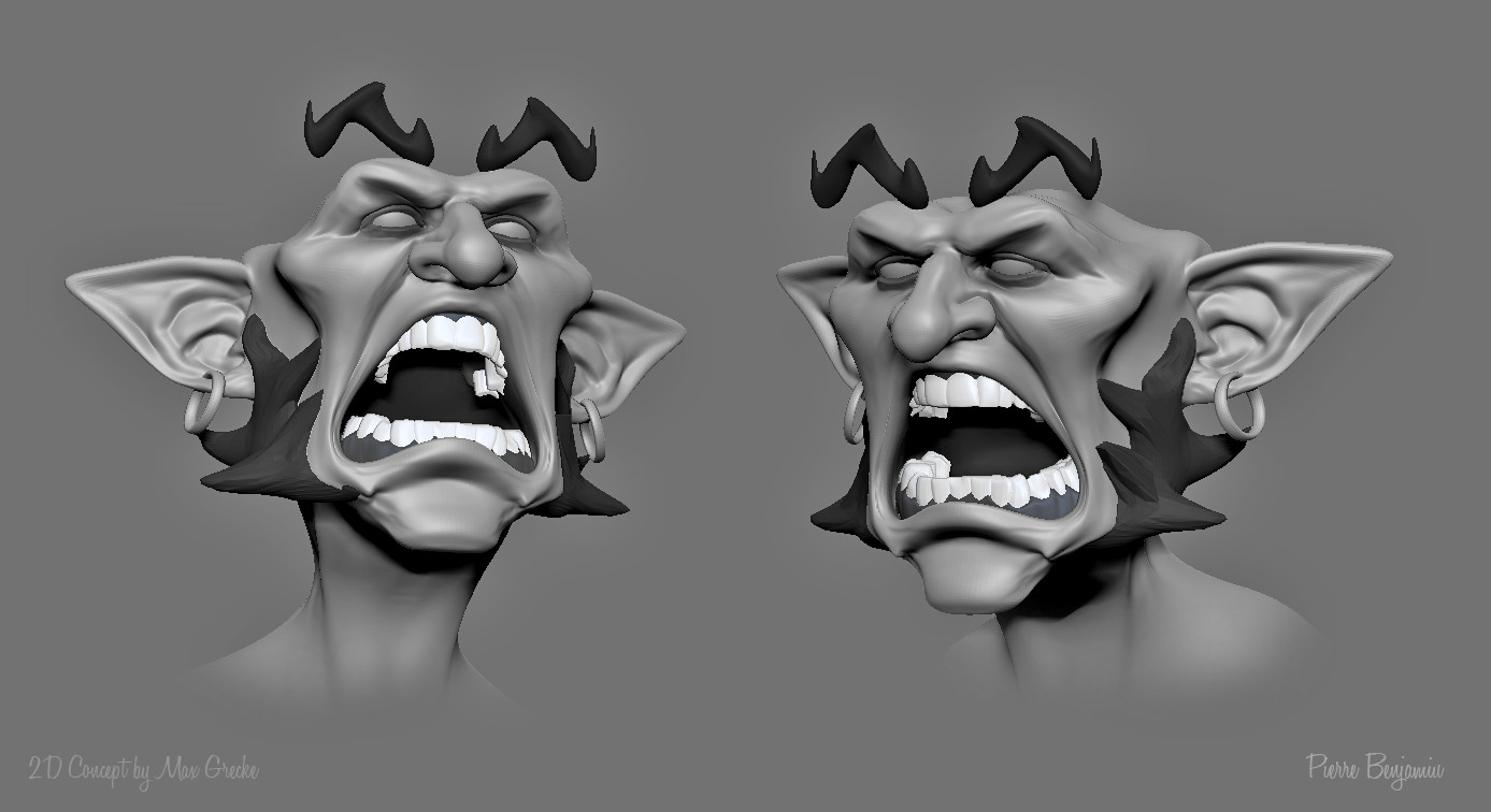 3D speed sculpt  based on a 2Dconcept by Max Grecke