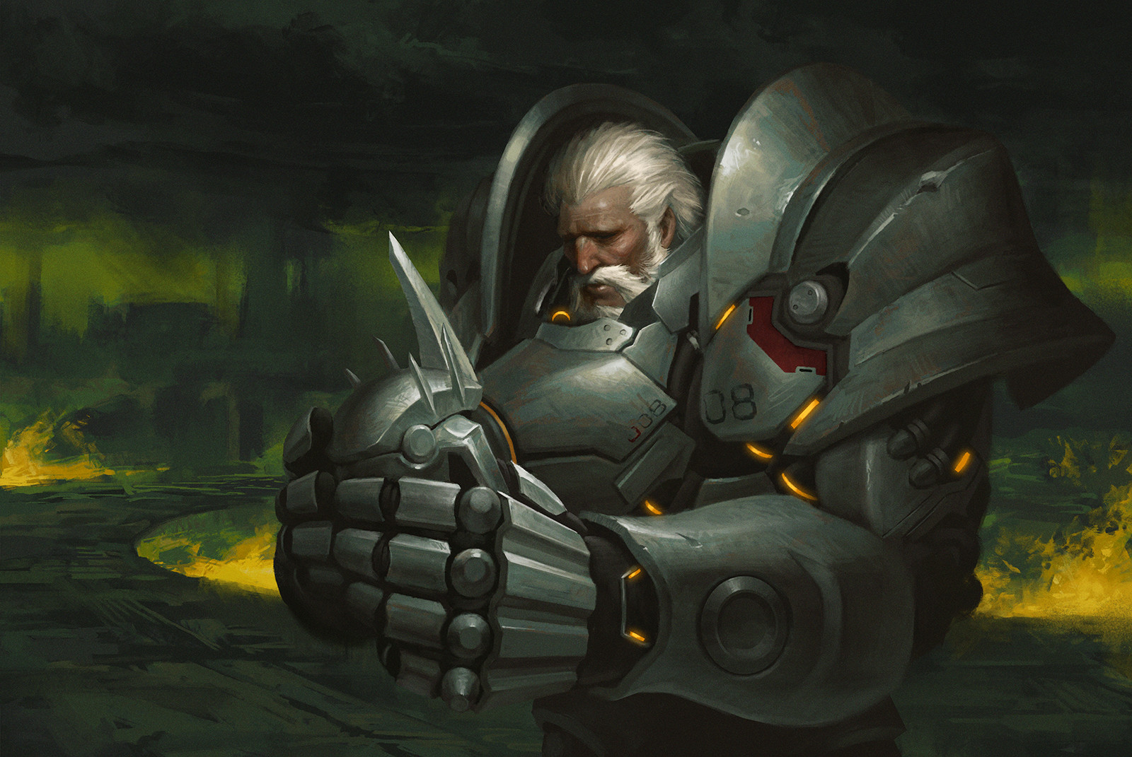 Sad Reinhardt - Overwatch Fan Art