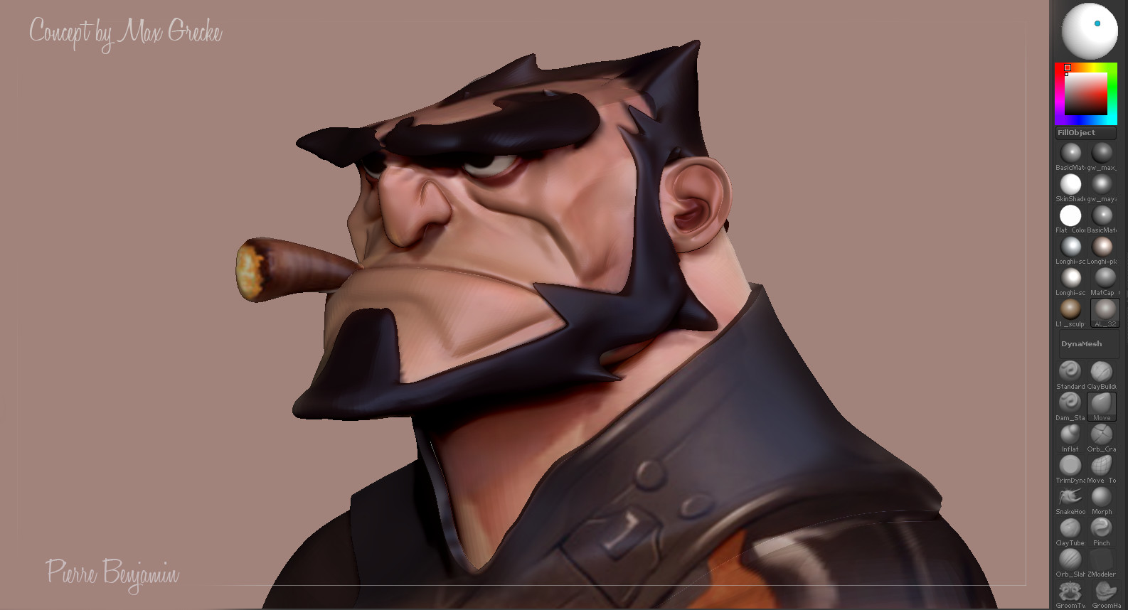 Wolverine speed sculpt , based on a 2D concept by Max Grecke WIP
