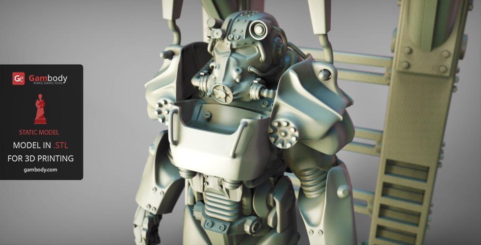 ArtStation - T-60 Power Armor 3D Model | Static Figure