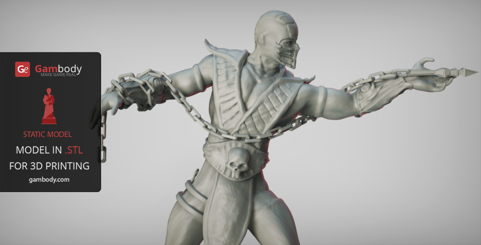 Artstation Scorpion Mortal Kombat 3d Print Model Static Figure