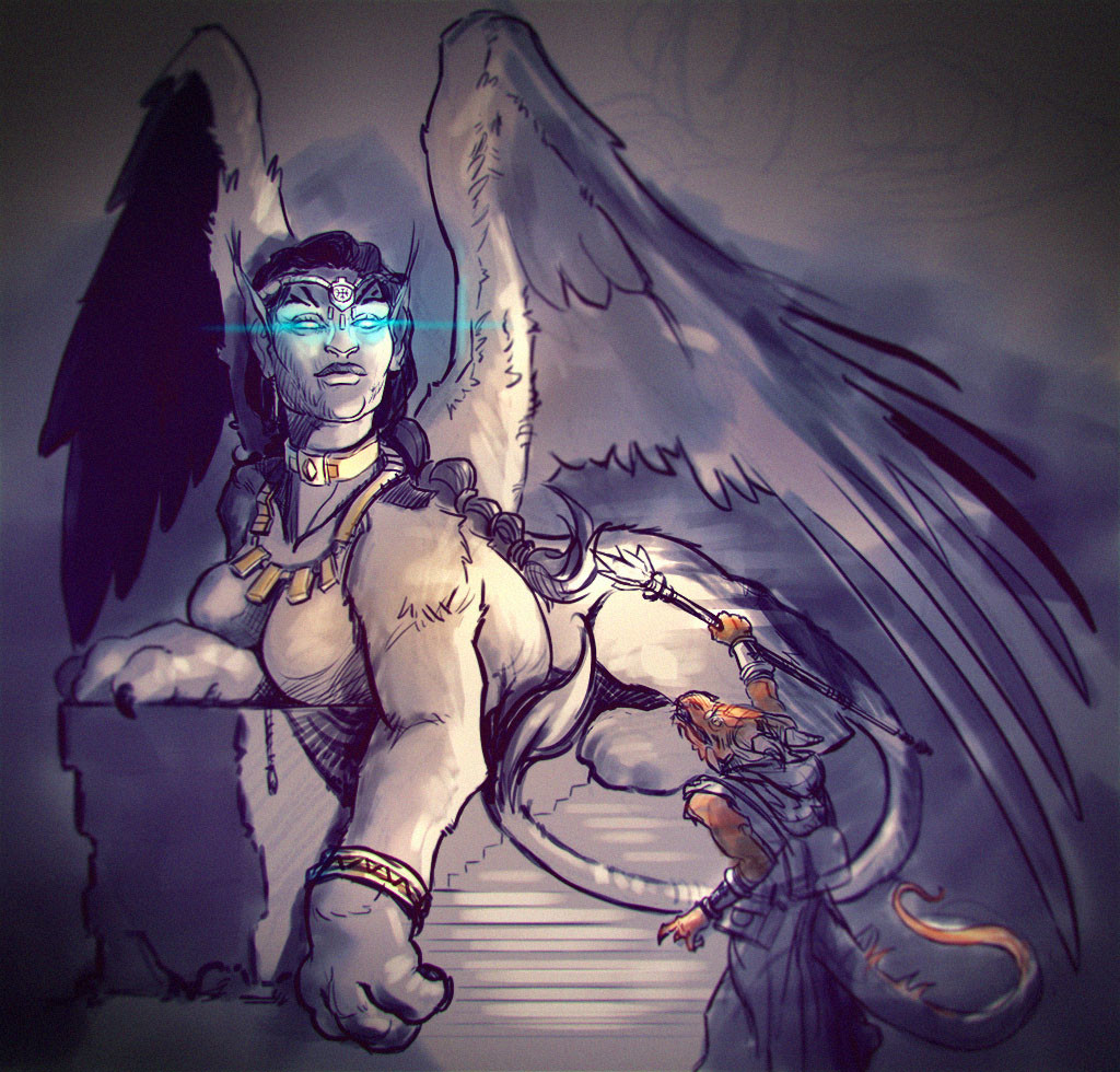 Lloyd hoshide sphinx sketch