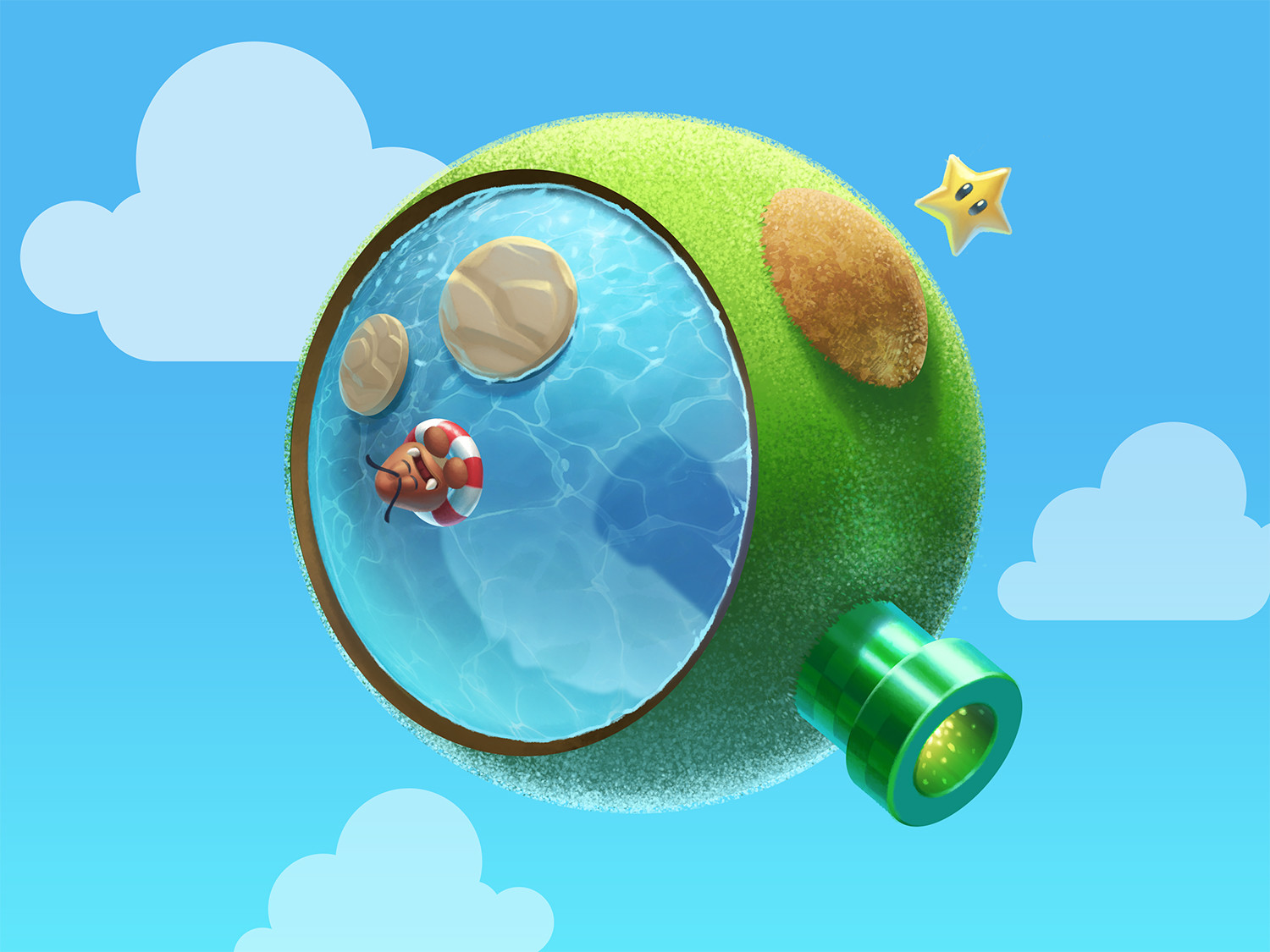 Q based on Super Mario Galaxy