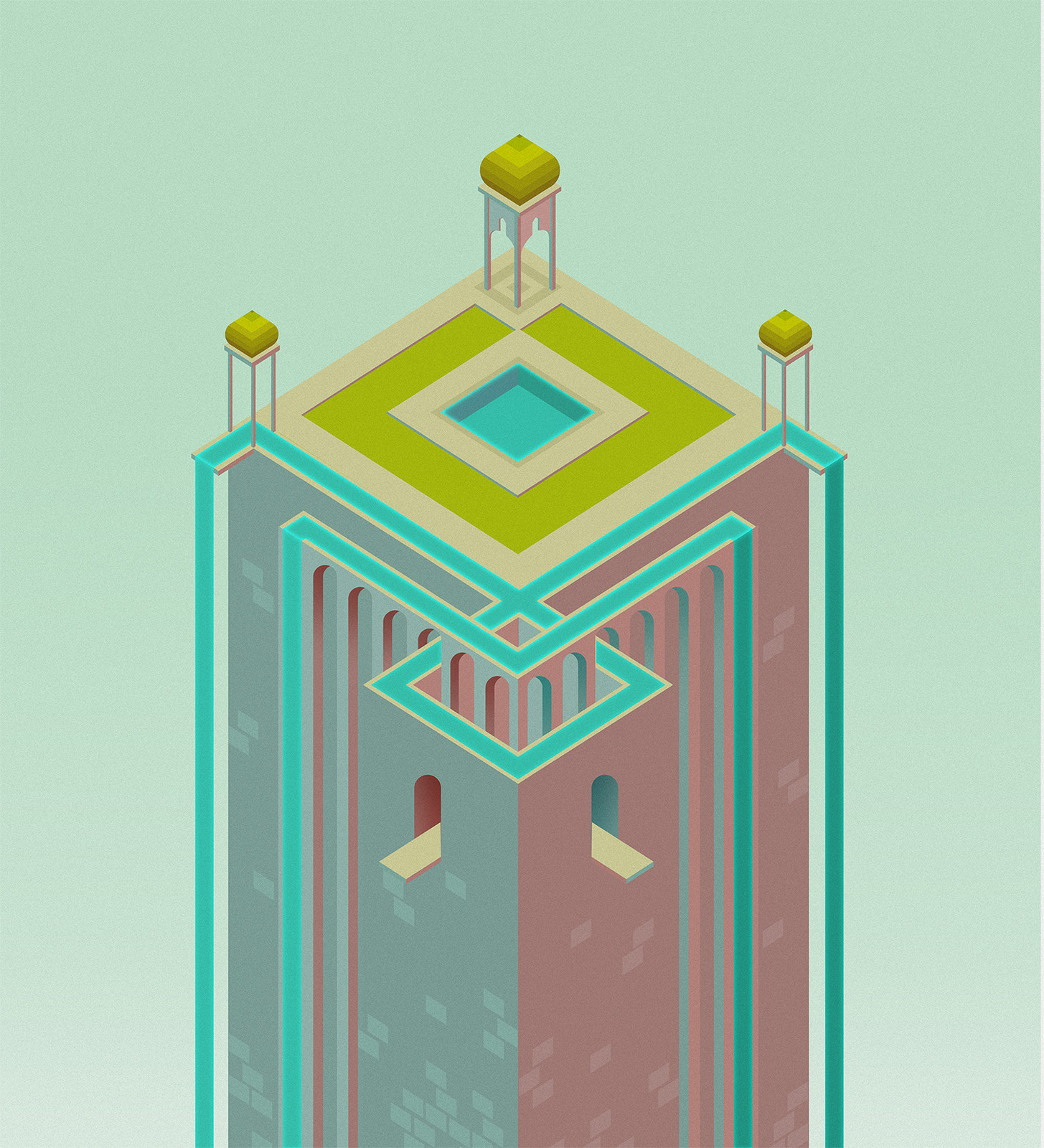 M as a full on Monument Valley tribute <3