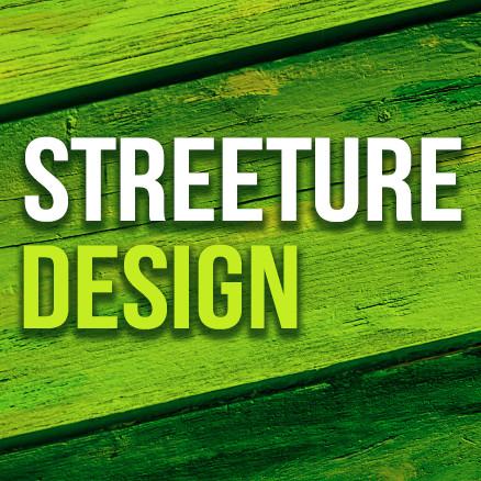 Streeture design logo viereck