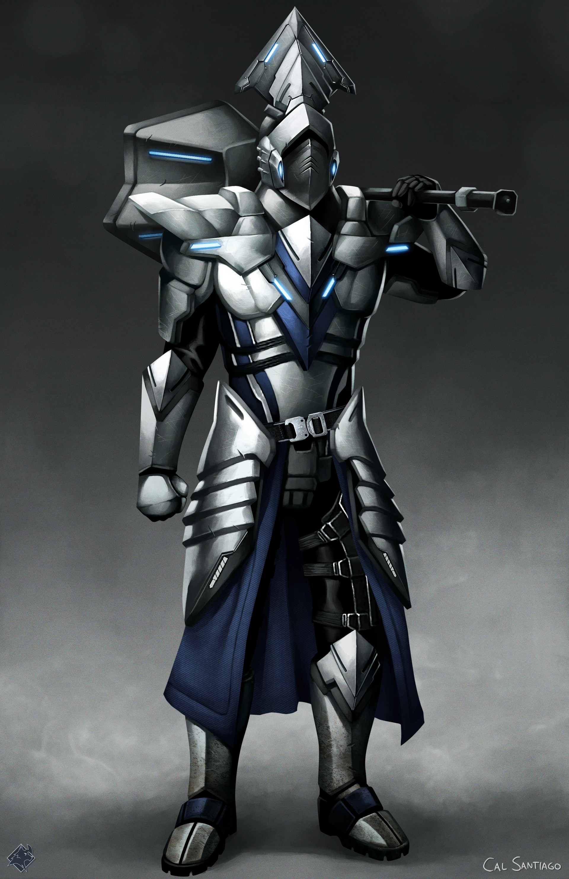 Artstation Sci Fi Souls Garl Vinland Armor Cal Santiago